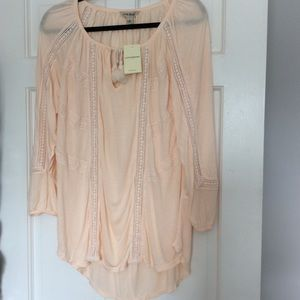 Lucky Brand Pink Cotton Tunic size Large
